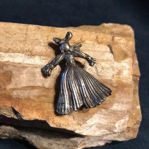 Jewelry - Sterling Corn Husk Doll Brooch